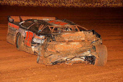 Brett Hamm has a bad crash in the crate race