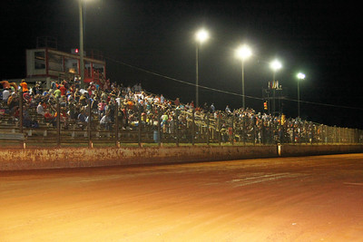 a great Carolina Crowd at I-77 Speedway Chester, SC
