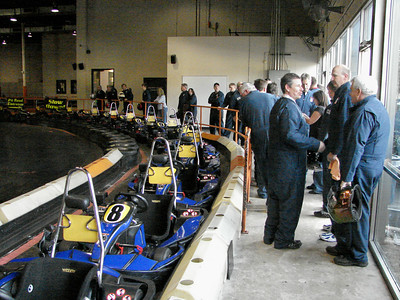 racers line up for practice session