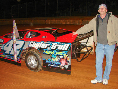 Larry Trull and the memorial car