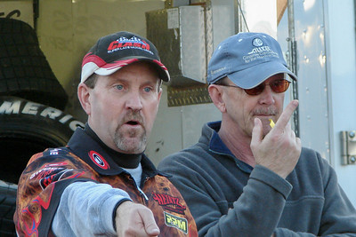 Mr. Fish the flagman and Larry Trull