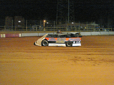 Randel Chupp exits with a flat tire