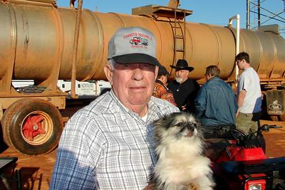 Jack Starrette, a racers best friend, with mans best friend