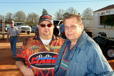 Bruce Camp's dad said he used to carry Bruce into the track. But that was over 200 pounds ago.
