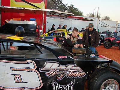 Jack Daughtry checks his engine