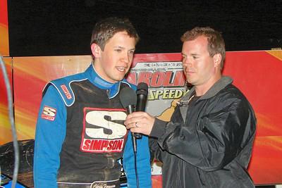 Clint Elkins talks with Skyler Trull winner Chris Ferguson