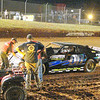 #00 Andy Thompson has trouble during the street stock race