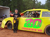 Duce Miller races in pure stock 4 class. Finished 11th out of 16 cars.<br /> Yes, he has a booster seat.