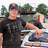 Michael Brown shows off his LuvRacin decal