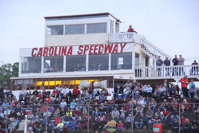 """Top row is the control tower, announcer, race director, scorer, etc. Large second floor is the enclosed, air conditioned, theater seats, """"Speedway Club"""" for a few dollars more. Also an outside patio seating area. Ground floor is concession area."""