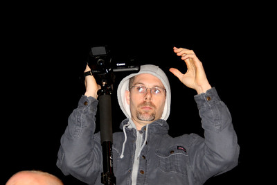 """Randy Barnes, """"These darn new fangled cameras. Where's the ON button?"""""""