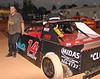 Larry Green drives the black #14 in stock 4<br /> Or is it Larry Black that drivers the....oh never mind.