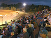 Fans settle in for a night of racing.