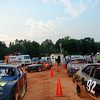 Four cylinder cars line up for their heat