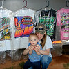 Cameron and his mommy love the races