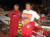 Late model drivers Kent Peckham and Dane Burns.