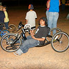 Mario has spina bifida and a leg missing so his bicycle is a little different.