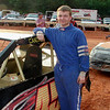 Wayne Curtis has his girl friends name, Candace,  on his car (she put it there!)