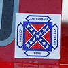 on Steve Watts's car...He's the Confederate Cowboy