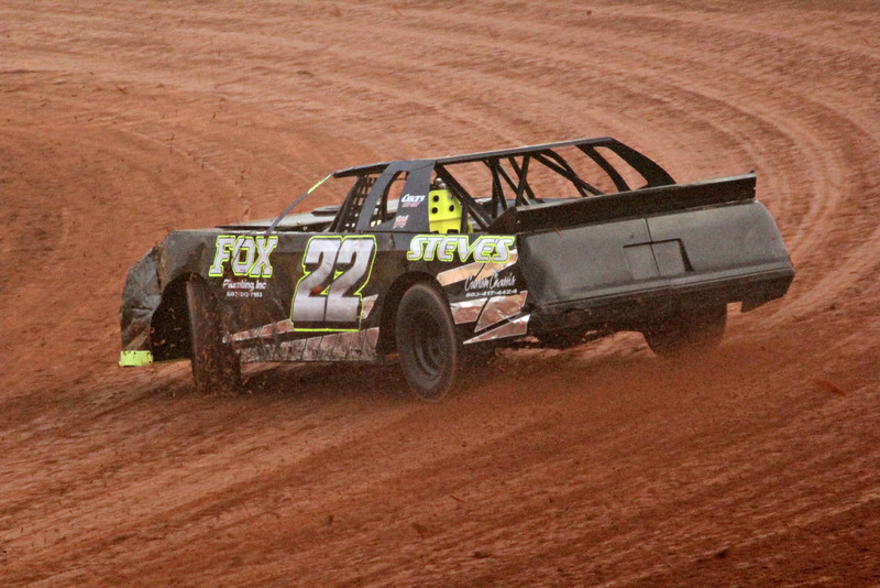 Kenny Ramsey had a great run.... and won the Street Stock race