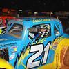 Kara Clarke tries the Carolina dirt in her Legend car