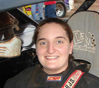 Jennifer Petrea is a winner at Lowes Motor Speedway in their Crash Cars division. She also runs in the street stock class at Carolina Speedway