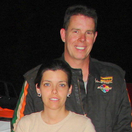 Mr, Mrs Todd Bevis.  Todd has been around racing  a LONG time. Spent a lot of time with drag racing.