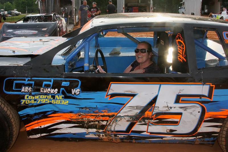 Eric Thompson's chief mechanic test drives the car