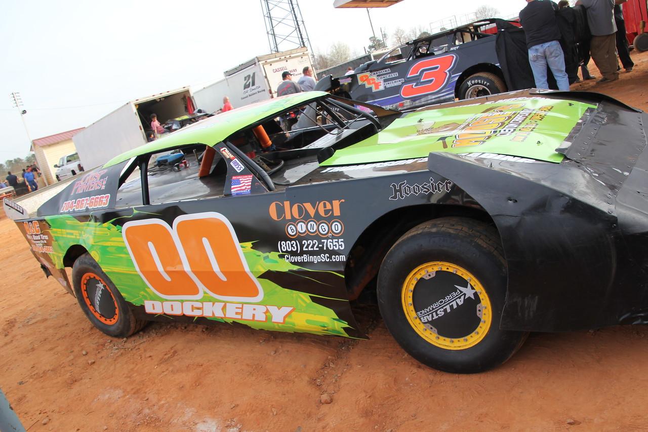 Brandon Dockery's street stock racer.