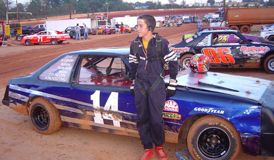 the feature winner #14 young gun Devin Williams
