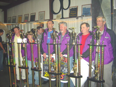 The Champions: Nathan Grigg (renegade), Tyler Felmet (young guns), Scott Dameson (street Stock 4), Rob Medlin ((super stock 4), Roger Pate (Late Model)and Roddey Bolin's car owner (limited sportsman)