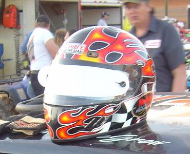 Eddie McGrew's helmet