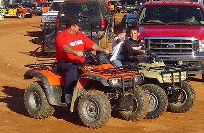 Big John Pursley gives 12 year old Blake Bentley driving lessons