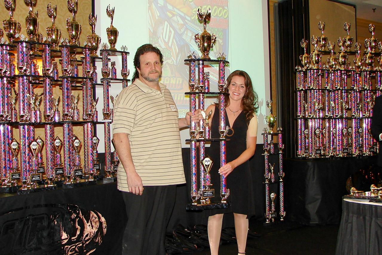 Carolina Speedway champion Gary Puckett receives his trophy
