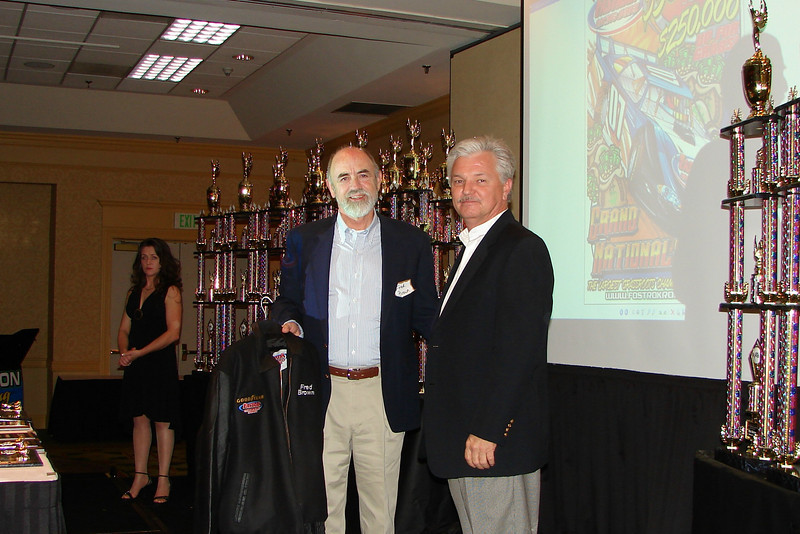 Wythe Speedway owner Fred Brown is honored by FASTRAK