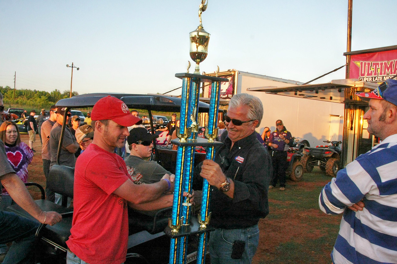 Casey is much happier after getting his 2nd place trophy from last year