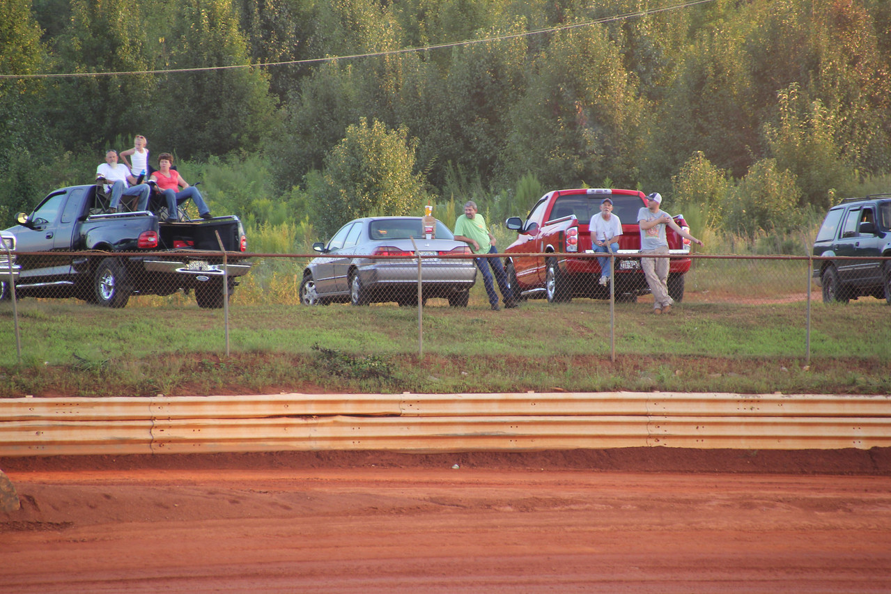 Most fans tailgate at Cleveland County Speedway.