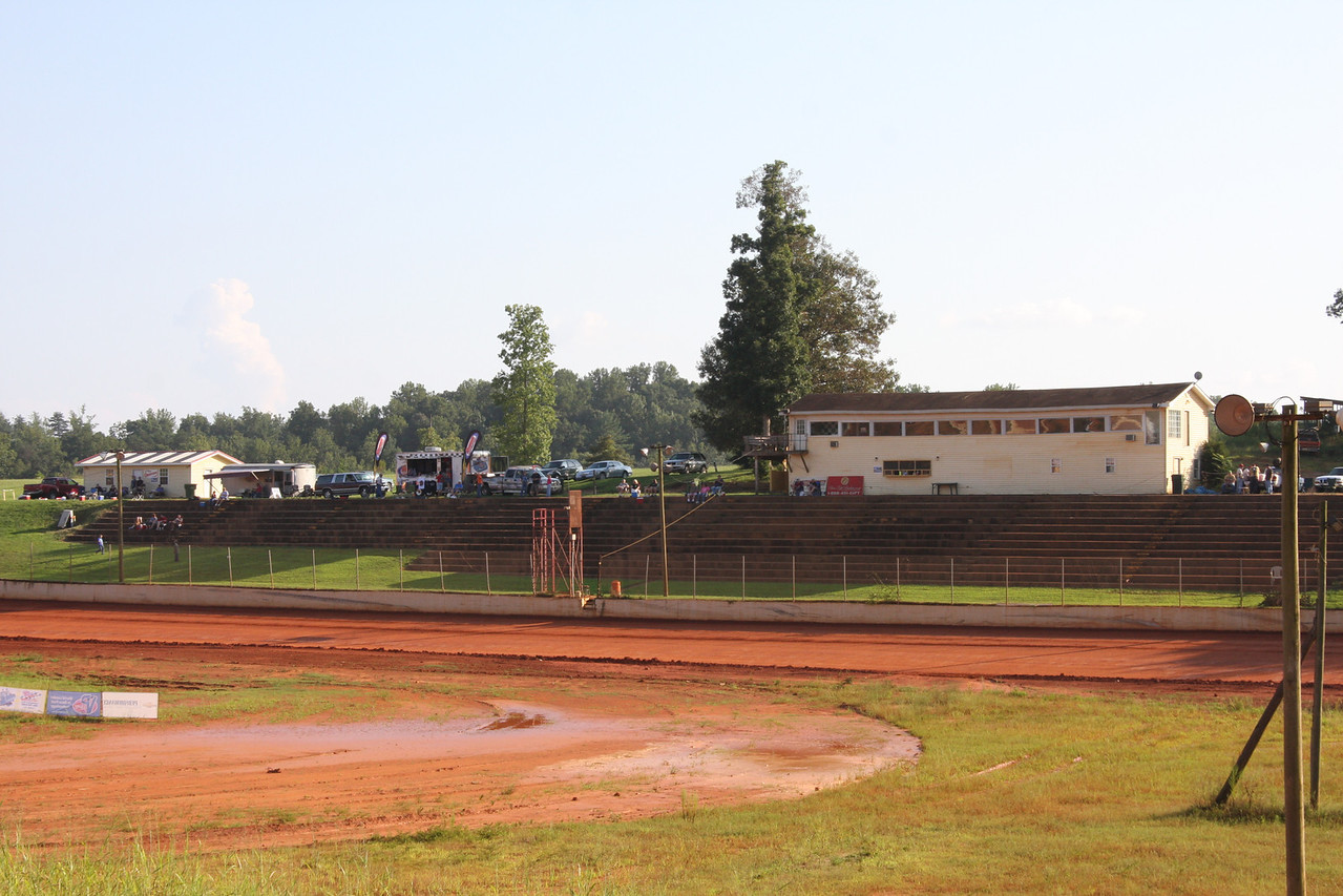 concrete grandstand and concession stand