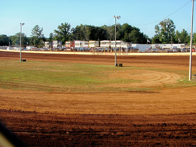 A wide open infield gives loose cars somewhere to get straightened out..