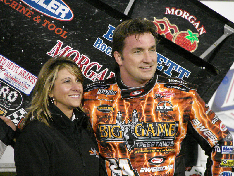T Mac........Terry McCarl wins the 360 feature event at East Bay on Feb 1, 2008