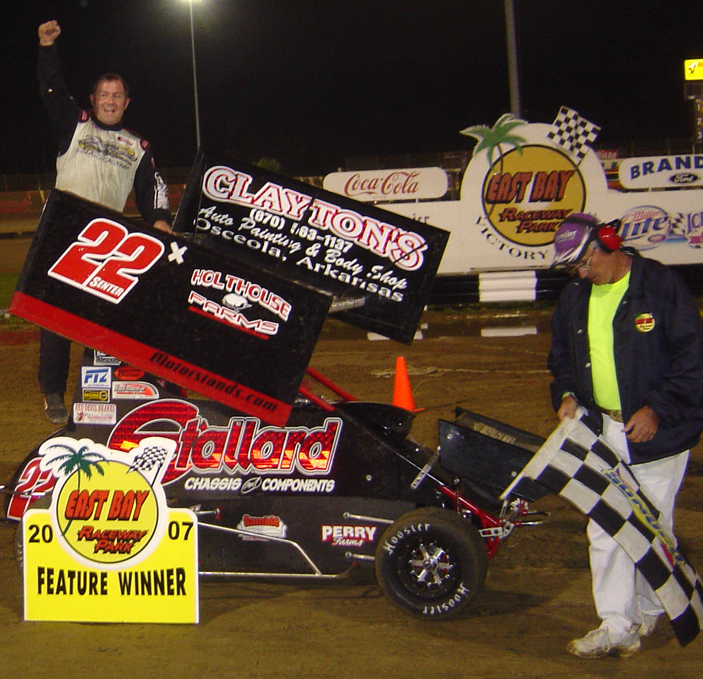 a happy winner Travis Senter