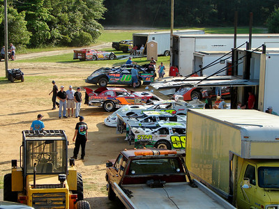 "the ""outside pits"" at Fayetteville Speedway"