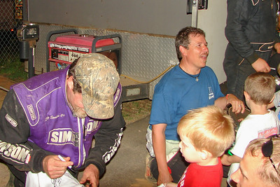Doug Sanders and Jeff Smith sign autographs for fans