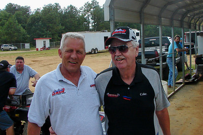 Carolina Clash tech man Terry Harris, and announcer Larry Long