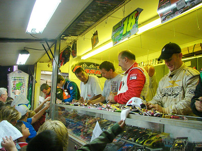 autograph session at Kirby's souvenir trailer.