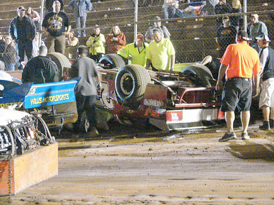 another flip on the front stretch