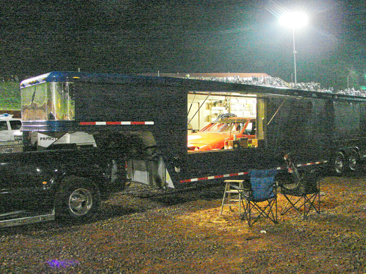 this open sided trailer was used by Jeff Gordon when he first ran NASCAR