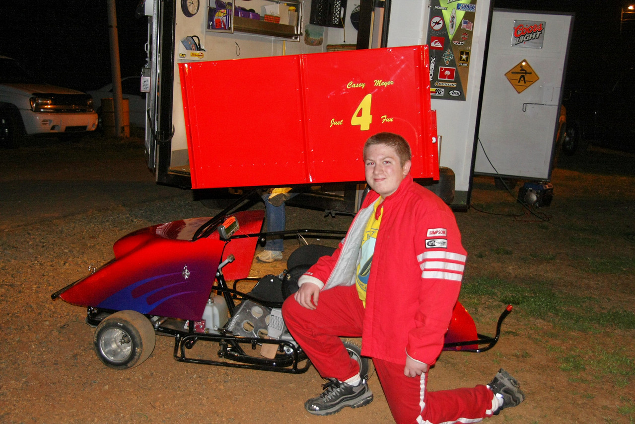 "Casey Meyer drives the ""just 4 fun"" cart"