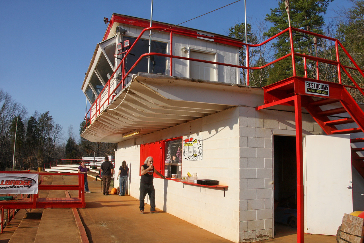 the Grub Hut with control tower above it.