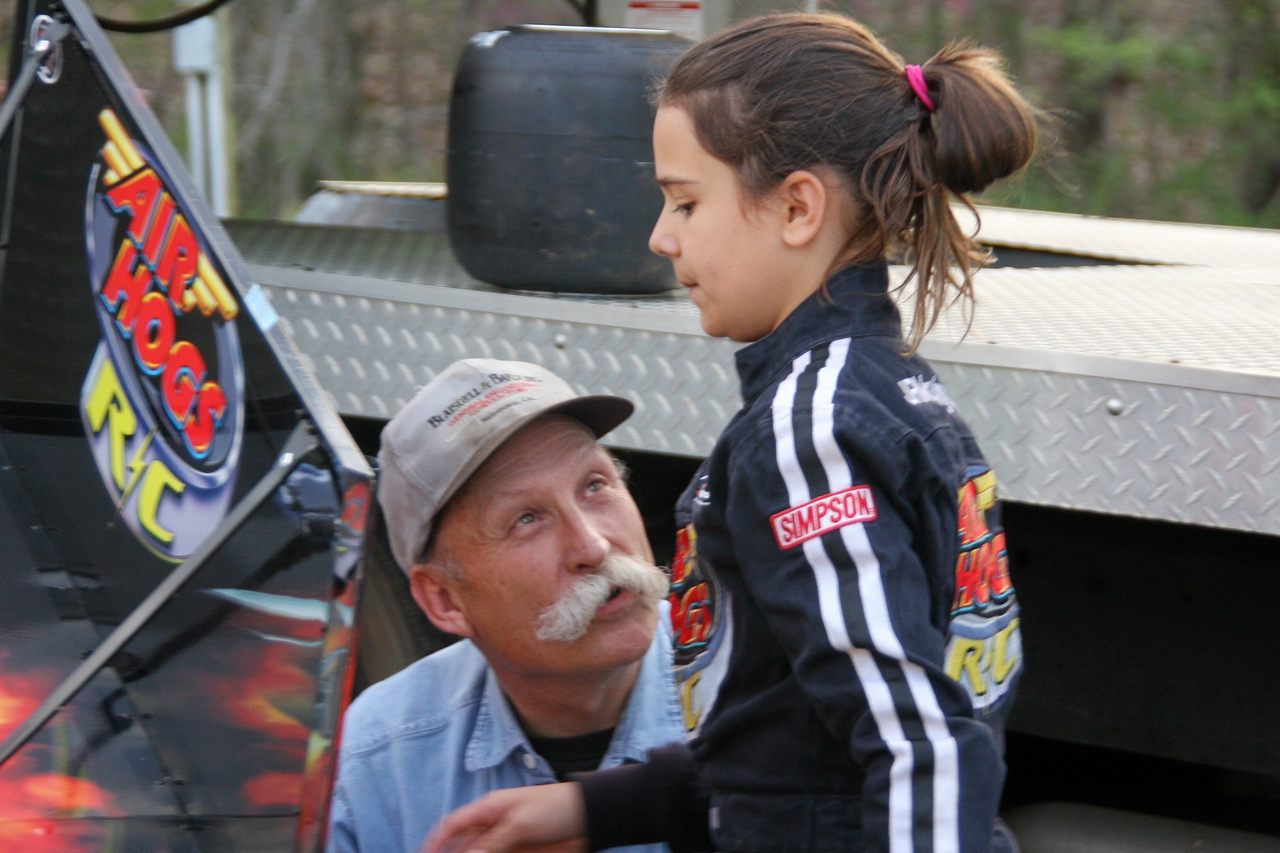 Grandpa gives Karsen some last minute instructions
